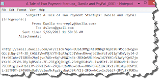 Image of email converted to text file.