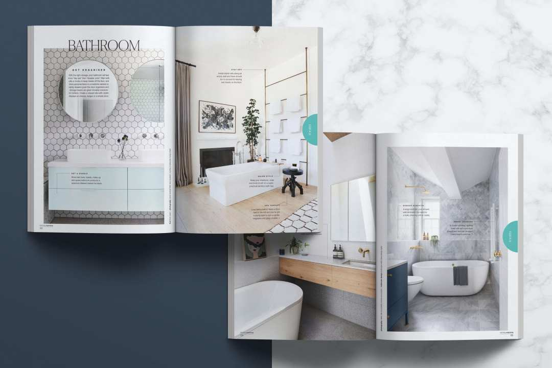 Magazine Mockups 2x Spread Layer Marble