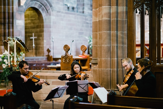 string quartet in church ceremony