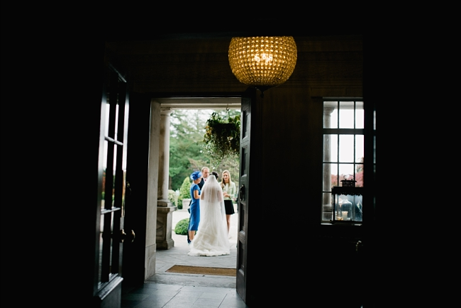 bride through doorway