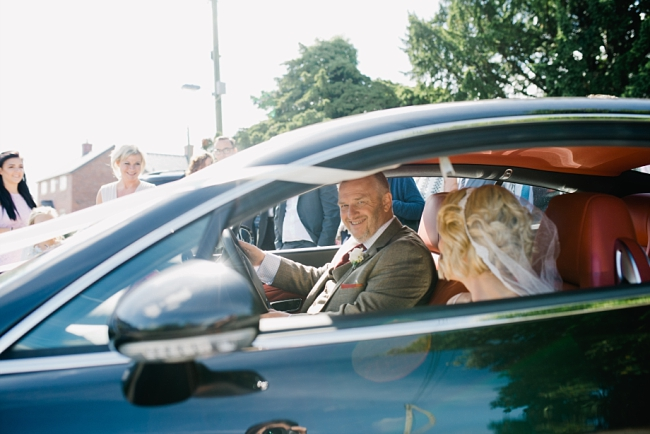 drive own wedding car