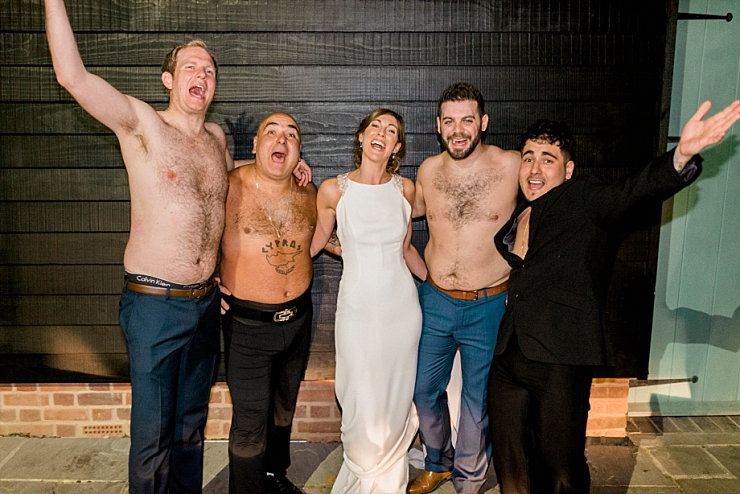 stavros flatley with bride and groom