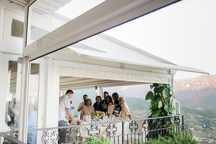 wedding overlooking amalfi coast