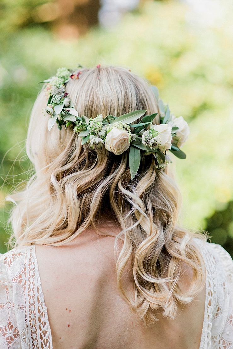 boho waves and flower crown