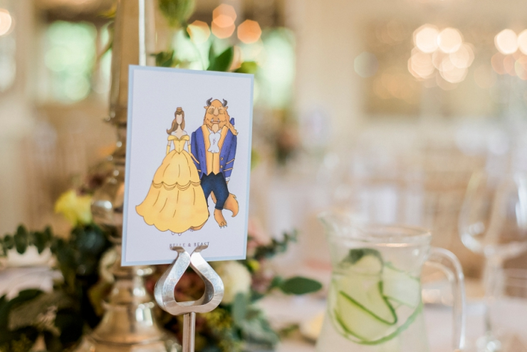 Beauty and the beast wedding table