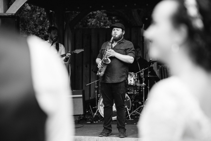 saxophonist at wedding