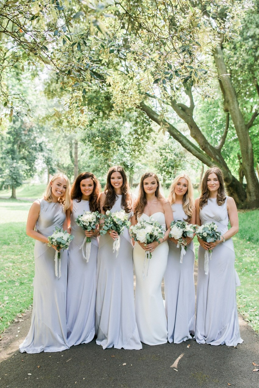 bridesmaid photo in lowther gardens, Lytham