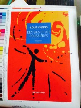 """cromalin de la couverture du livre """"des vies et des poussières"""" de Louis Chedid"""