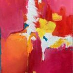 Echapée 1. Acrylique et pigments sur toile.