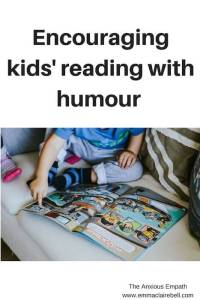 Encouraging kids' reading with humour