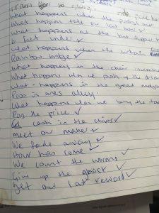 Songwriting exercise, lyrics, songs