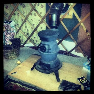 This wood burning stove kept us nice and cosy