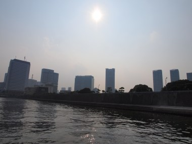Tokyo Skyline; buildings and water and stuff