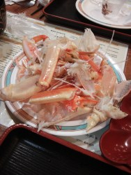 What remained after we attacked the crab legs.