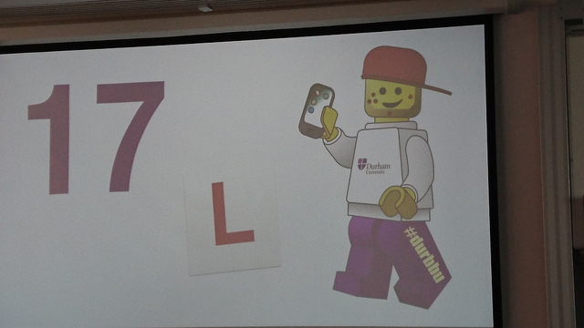 A mock up of a 17 year old lego minifig, complete with spots, iPhone and L plates