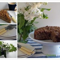 I wanna scream so loud for you - Whole Wheat and Spelt Banana Coconut Crumble Cake