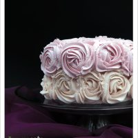 Dairy-free Vanilla Birthday Cake with Rose Ombre Frosting