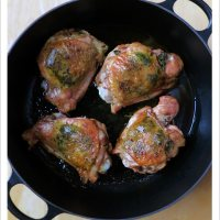 Roast Turkey Thighs with Garlic and Sage