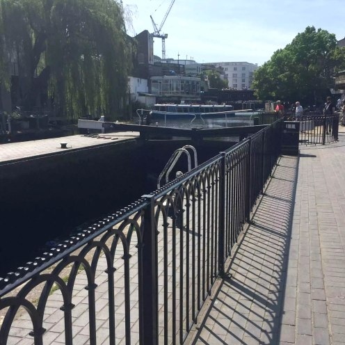 Regents Canal Sunshine Walk London Kentish Town Lock