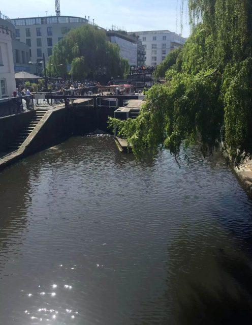 Regents Canal Sunshine Walk London Kentish Town Lock Camden