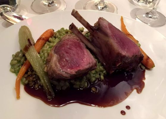 German Gymnasium D&D Kings Cross London Birthday Dinner Restaurant Rack of Lamb Garlic Barley Risotto