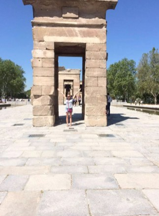 Madrid Sunshine Park del Oeste Walking Temple Debod