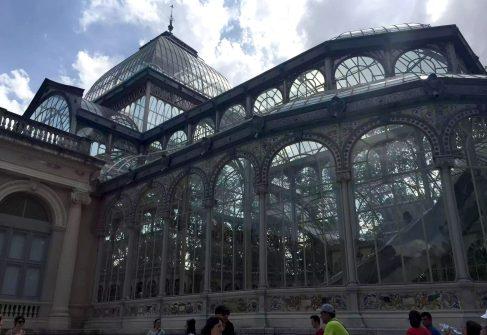 Palacio de Cristal Madrid Retiro Park Walk Sunshine