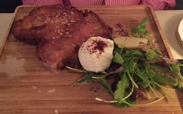 Beach Blanket Babylon Restaurant Notting Hill Birthday Dinner Tables Dining Room Cosy Romantic Chicken Milanese Poached Egg