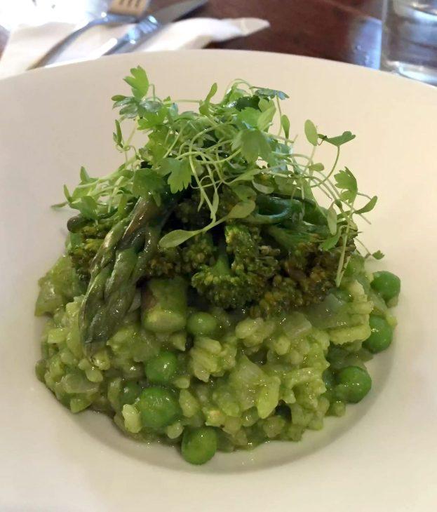 Great Northern Pub St Albans Summer Menu Risotto Broccoli Pea Wild Garlic
