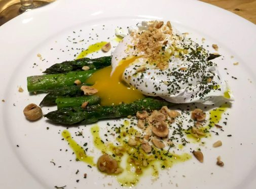 Great Northern Pub St Albans Summer Menu Asparagus English Duck Egg Poached Hazelnuts