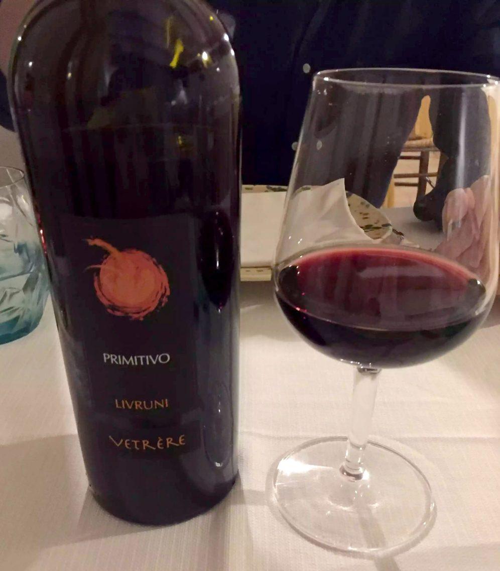 Marina di Pulsano Puglia Italy Casa Mita Dinner Wine Primitivo Restaurant