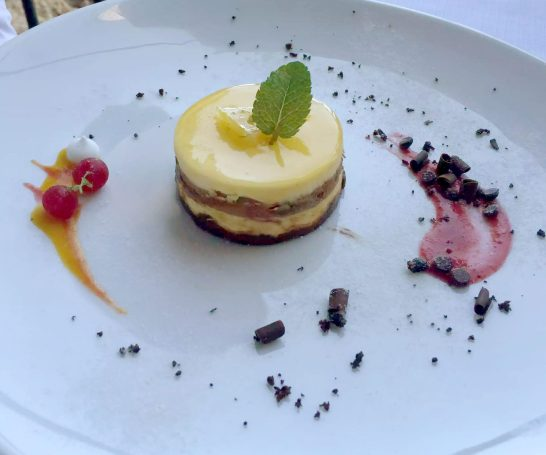 Polignano A Mare Puglia Italy Grotta Palazzese lunch Birthday Princess cave Restaurant View Salted Caramel Mango Passion Fruit Parfait Chocolate