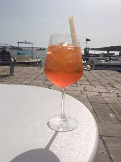Puglia Italy Porto Cesaro Sea Toes Clear Crystal Water Sunshine Marina Boats Imperatore Aperol Spritz