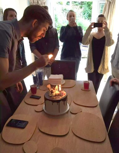 Kerry Birthday BBQ Essex Buckhurst Hill Meat Salads Outdoor Dining Friends Sunshine Cake Happy birthday