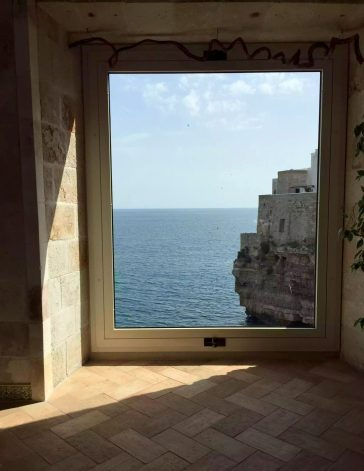 Polignano A Mare Hotel Covo Dei Saraceni Italy Puglia Sunshine Beach Sea Crystal Blue Birthday Tourists Breakfast View