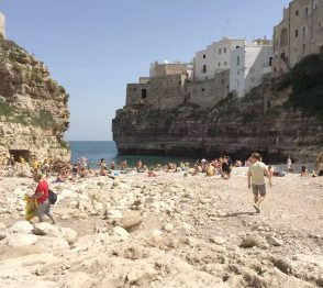 Polignano A Mare Italy Puglia Sunshine Beach Sea Crystal Blue Birthday Tourists
