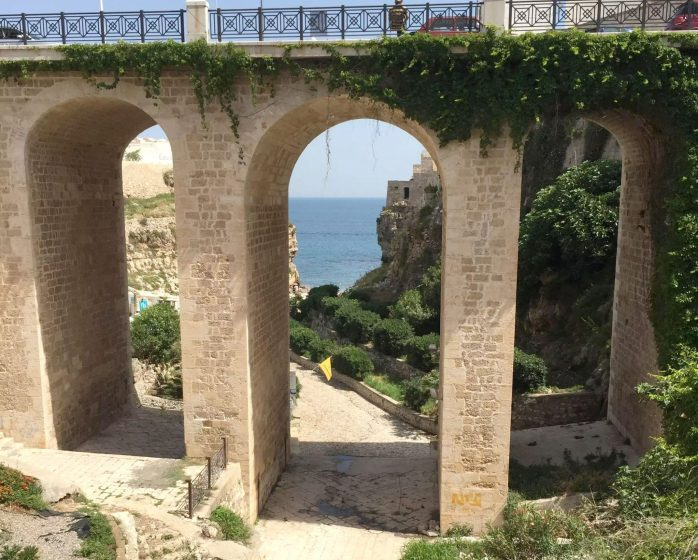 Polignano A Mare Italy Puglia Sunshine Beach Bridge Birthday Tourists