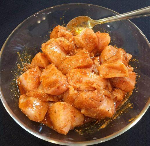 Chicken Fajitas Lettuce Wraps Cumin Paprika Turmeric Garlic Chilli Guacamole Avocado Tomato Salsa Coriander Onion Peppers Yoghurt Feta