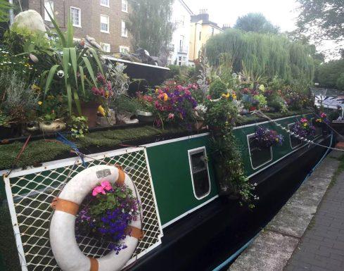 Regent's Canal Camden Walk Primrose Hill Flowers Barge Boat