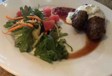 St George & Dragon Wargrave Gastropub Menu Girl's Lunch Henley Regatta Lamb Koftas Tzatziki