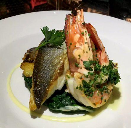 A Quinta Restaurant Almancil Algarve Portugal Sea bass, Cod, Prawn Shrimp