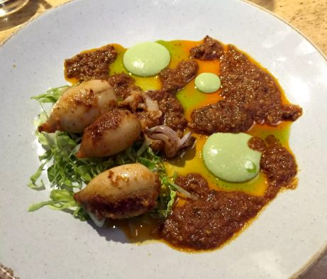 Great Northern Wine Tasting Food Pairing St Albans Baby Squid Chorizo Pea