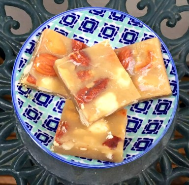 Nuts Brittle Treats Honey Butter Sugar-Free Grain-Free Gluten-Free Clean Eating SCD Paleo