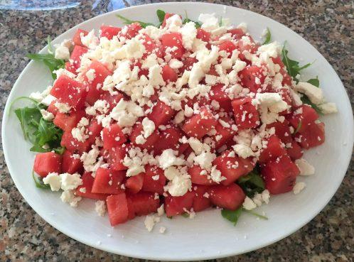 Watermelon Feta Rocket & Mint Salad SCD Paleo Grain-Free Gluten-Free Sugar-Free Clean-Eating