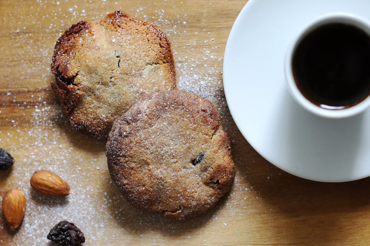 Cinnamon & Raisin Almond Flour Cookies