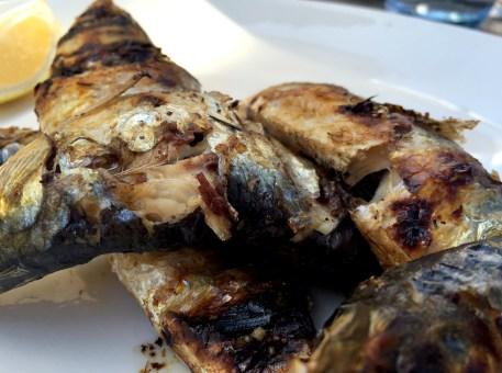 Marias Restaurant - Praia de Garrao - Algarve - Portugal - Grilled Sardines