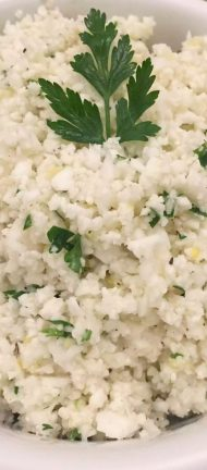 Lemon Cauliflower Rice with Coriander (Cilantro) by Emma Eats & Explores - Grain-Free, Gluten-Free, Refined Sugar-Free, Dairy-Free, Paleo, SCD, Primal, Whole30, Low Carb, Vegetarian & Vegan
