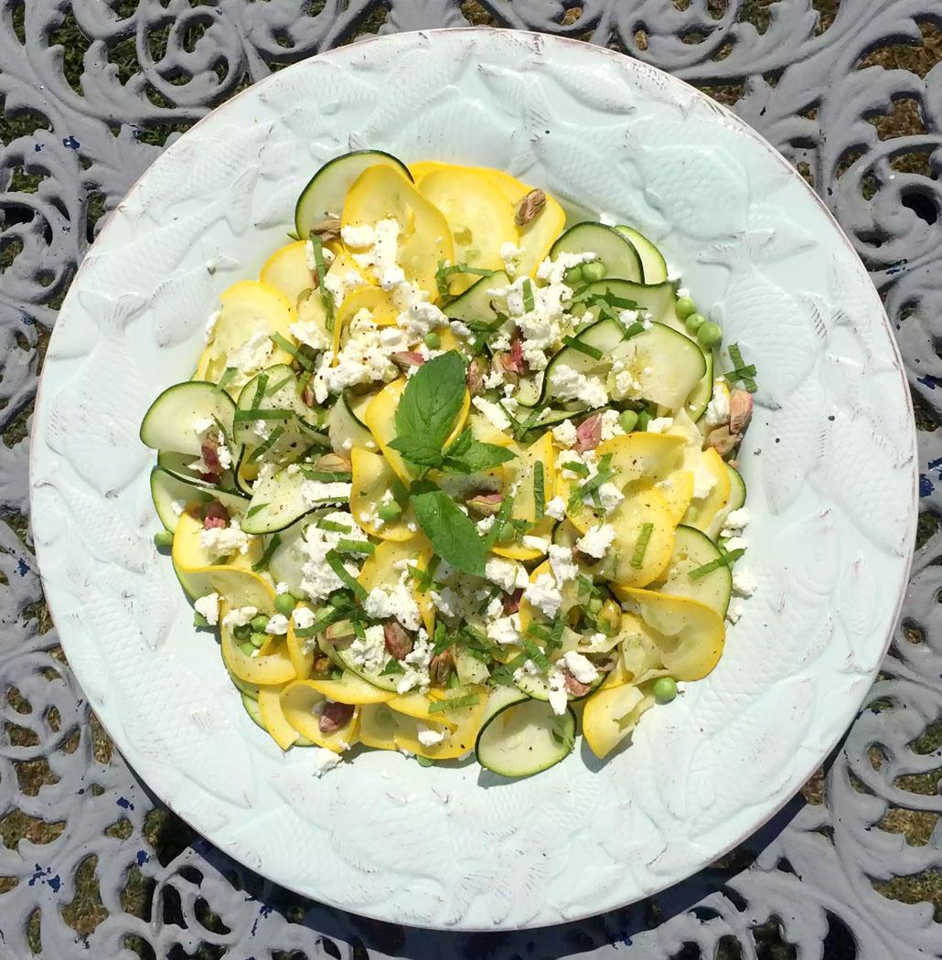 (Zucchini) Courgette Pea & Feta Summer Salad