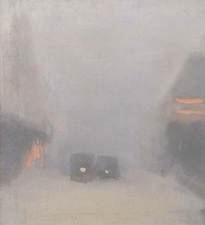 Beckett,_Clarice_-_Passing_Trams,_1931