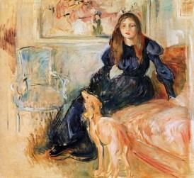 Berthe_Morisot_-_Girl_with_Greyhound_-_1893